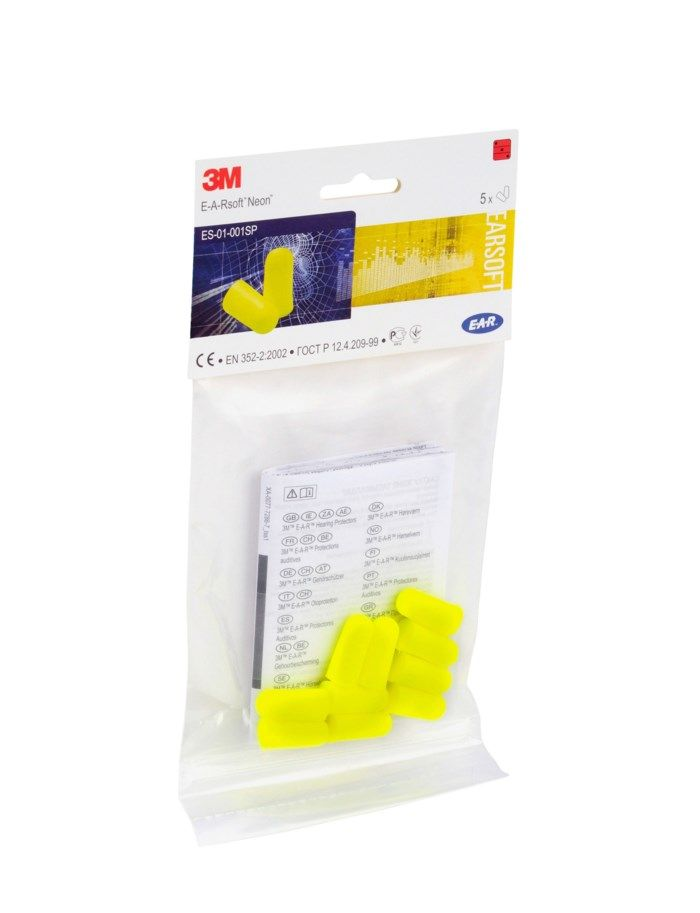 3M Hörselproppar Soft Neon 10-pack