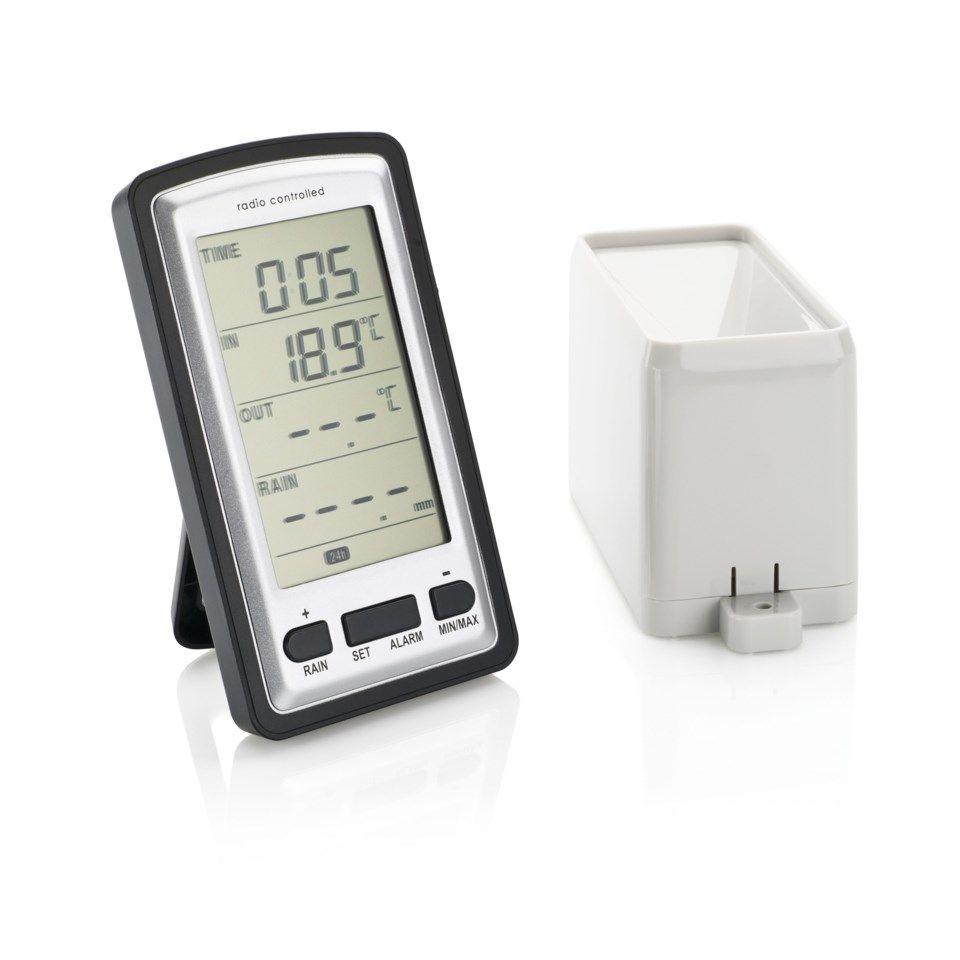 Trådlös digital regnmätare med termometer