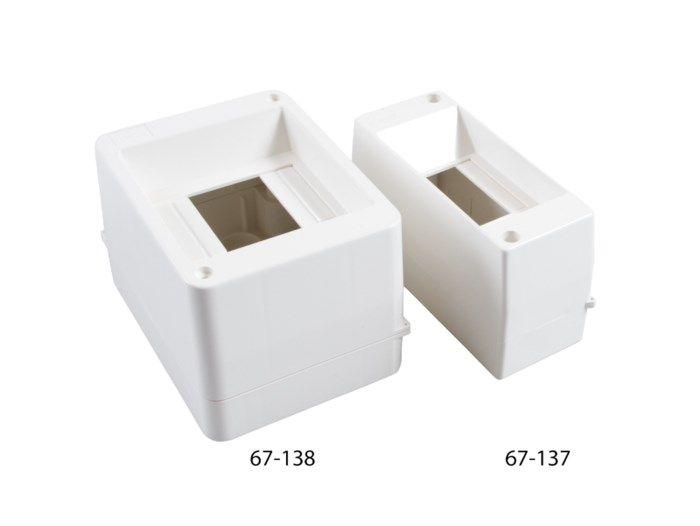 Normkapsling med DIN-skena 2-4 moduler
