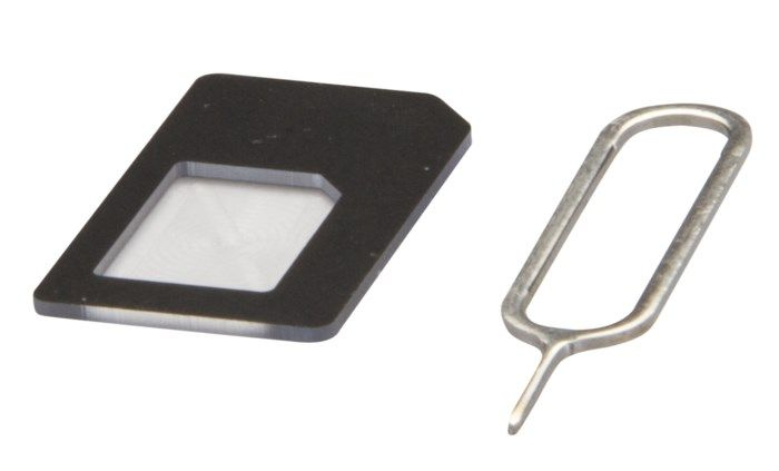 Sim-kortadapter Nano-Sim till Mini-Sim
