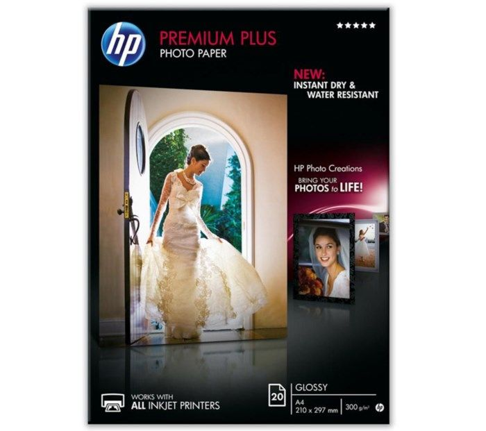 HP Premium Plus Glättat fotopapper A4 20-pack