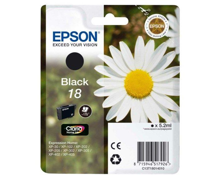 Epson T1801 Bläckpatron Svart