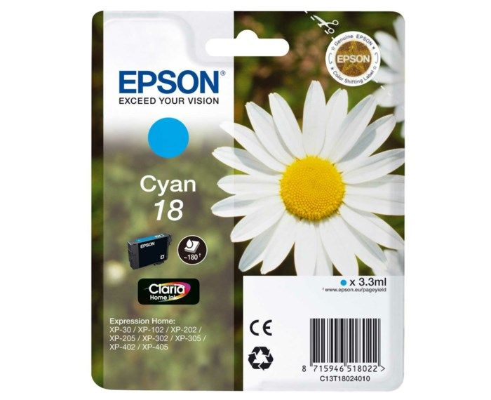 Epson T1802 Bläckpatron Cyan