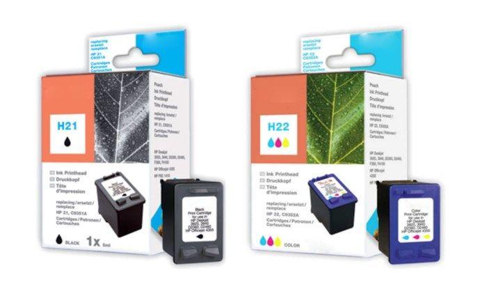 Peach HP 21XL och HP 22XL Bläckpatron 2-pack