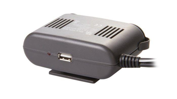 3-vägs förgrening för 12 V-uttag + USB
