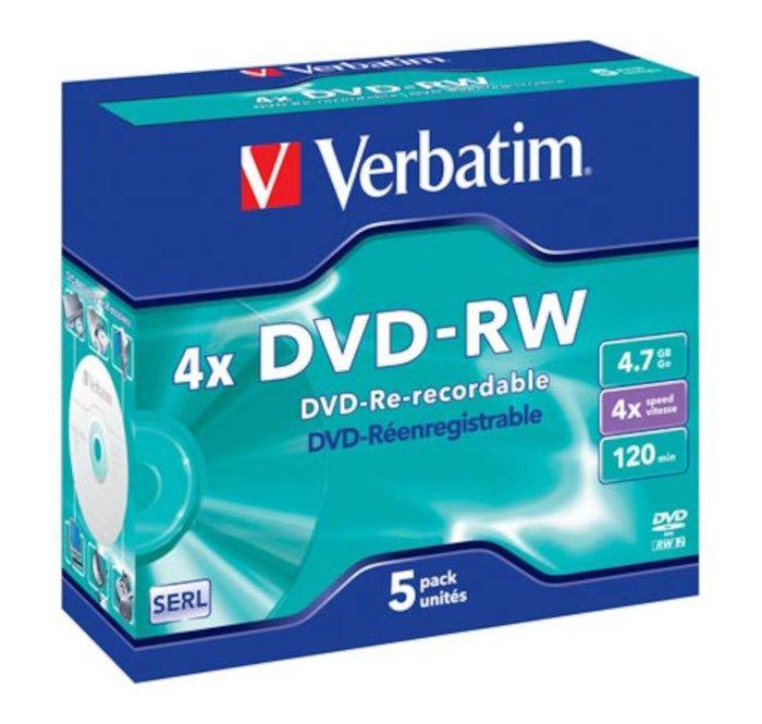 Verbatim DVD-RW i fodral 5-pack