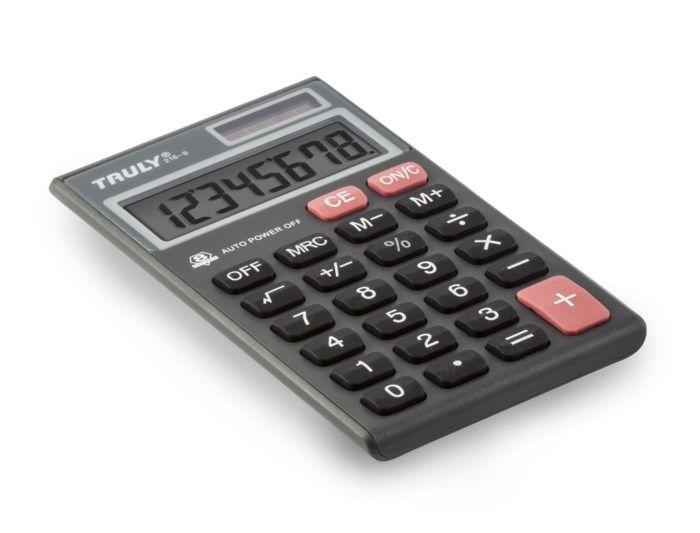 Truly Miniräknare 8 siffror
