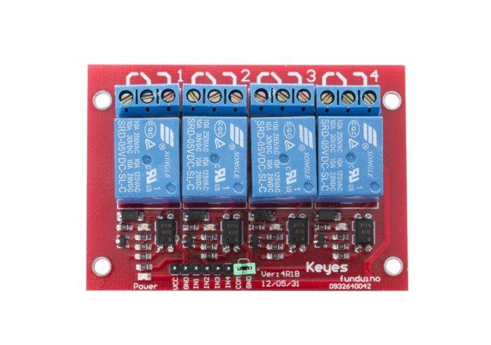 Luxorparts Relämodul för Arduino 4x
