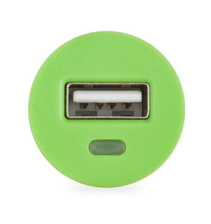 Linocell USB-billaddare 2,1 A Grön