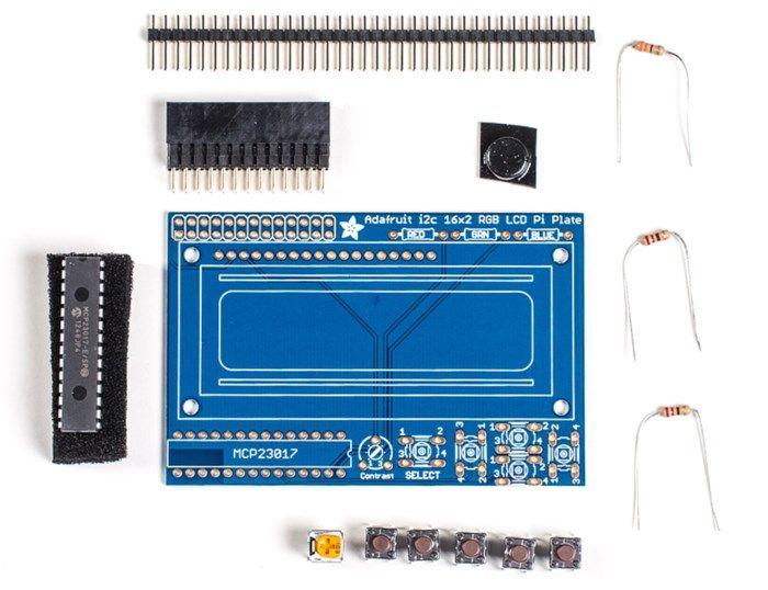Adafruit LCD-HAT för Raspberry Pi