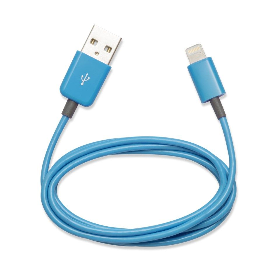 Linocell Lightning-kabel Cyan 1 m