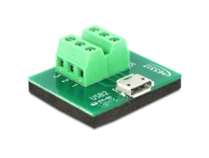 Terminalblock Micro-USB-hona