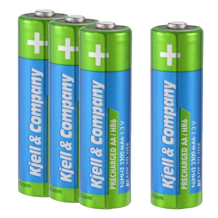Kjell & Company Laddningsbara AA-batterier 2300 mAh 4-pack