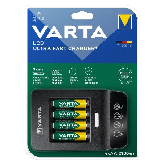 Varta Snabb batteriladdare med övervakning