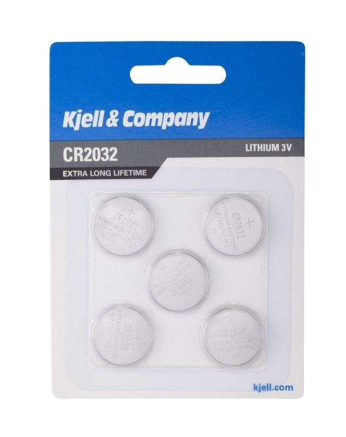 Kjell & Company Litiumbatteri CR2032 5-pack