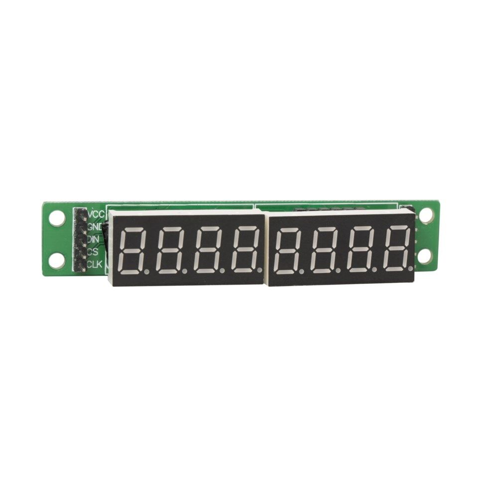 Luxorparts LED-display med 8 siffror