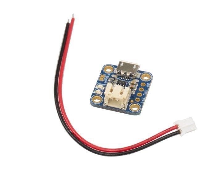 Adafruit Laddningsmodul för Li-ion batteri Micro-USB
