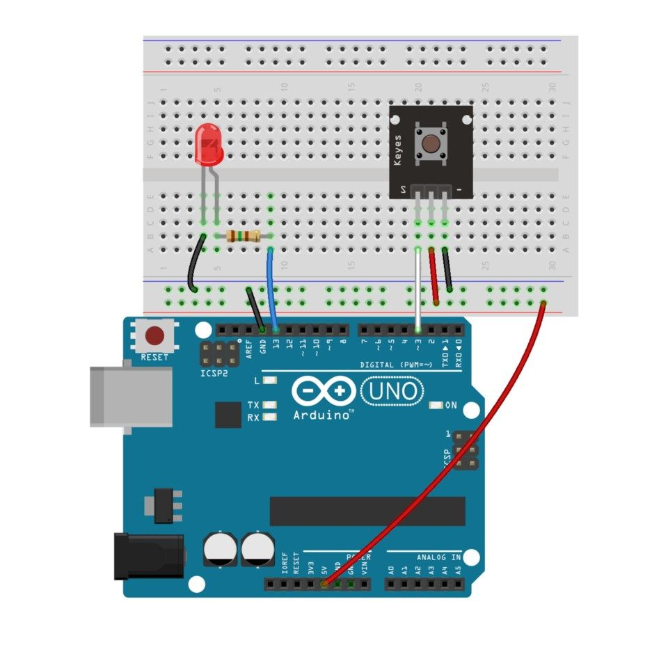 Luxorparts Knapp for Arduino