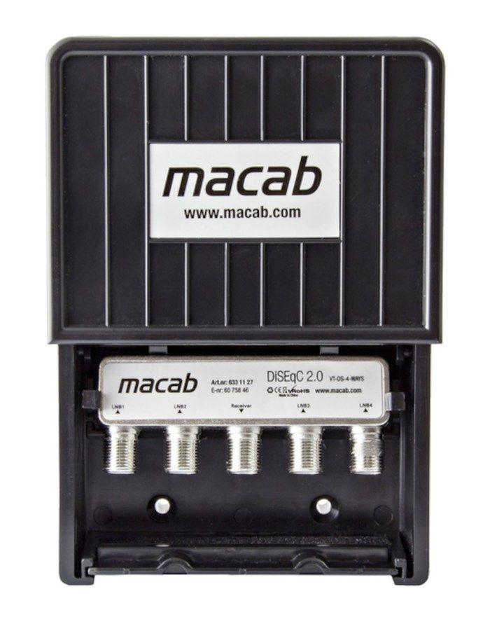Macab Diseqc-switch Hi-iso 4-vägs