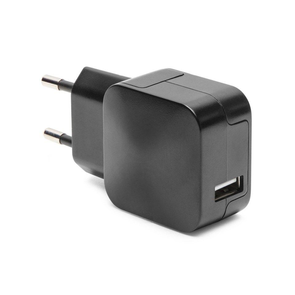 Linocell Mini USB laddare 2,4 A Svart