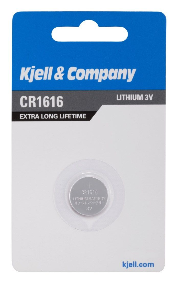 Kjell & Company Litiumbatteri CR1616