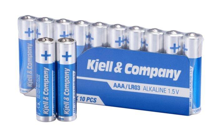 Kjell & Company AAA-batterier (LR03) 10-pack