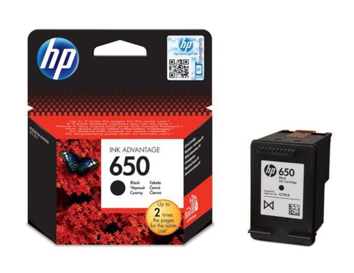 HP 650 Bläckpatron Svart