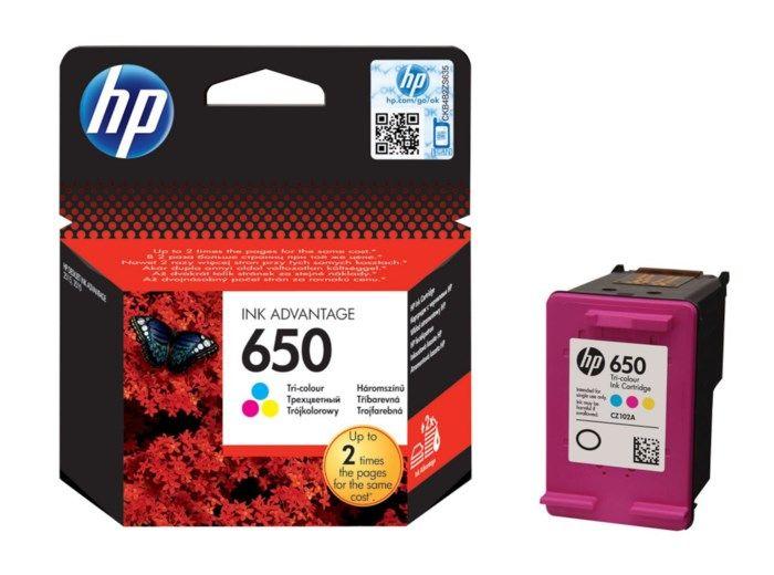 HP 650 Bläckpatron Flera färger
