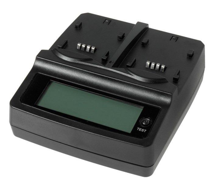 Dubbel-laddare för kamerabatteri
