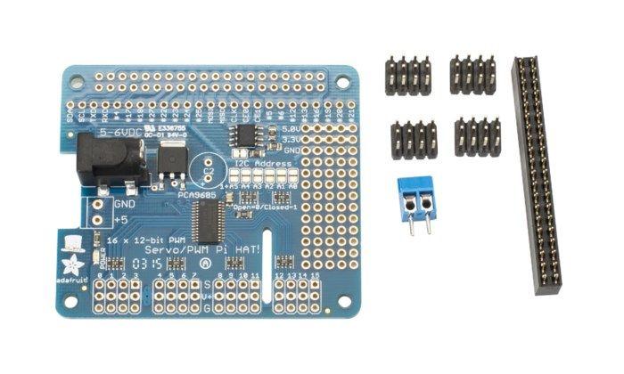 Adafruit Servokontroller-HAT för Raspberry Pi