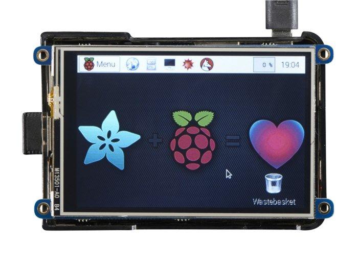 """Adafruit 3,5"""" touch-skärm för Raspberry Pi"""