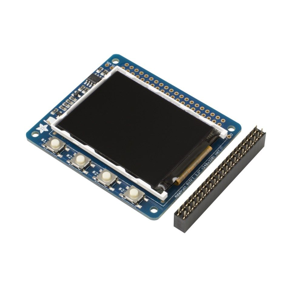 "Adafruit 2,2"" miniskjerm for Raspberry Pi"