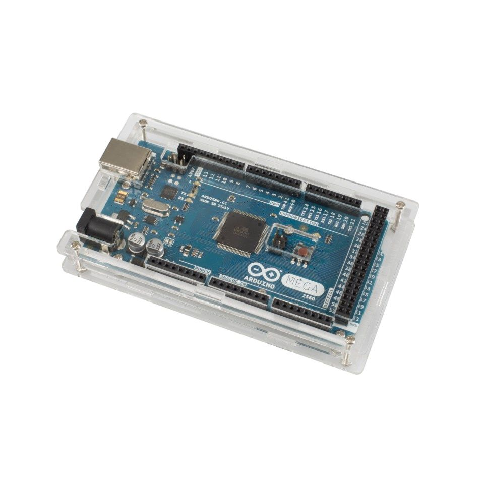 Innbyggingsboks for Arduino Mega transparent