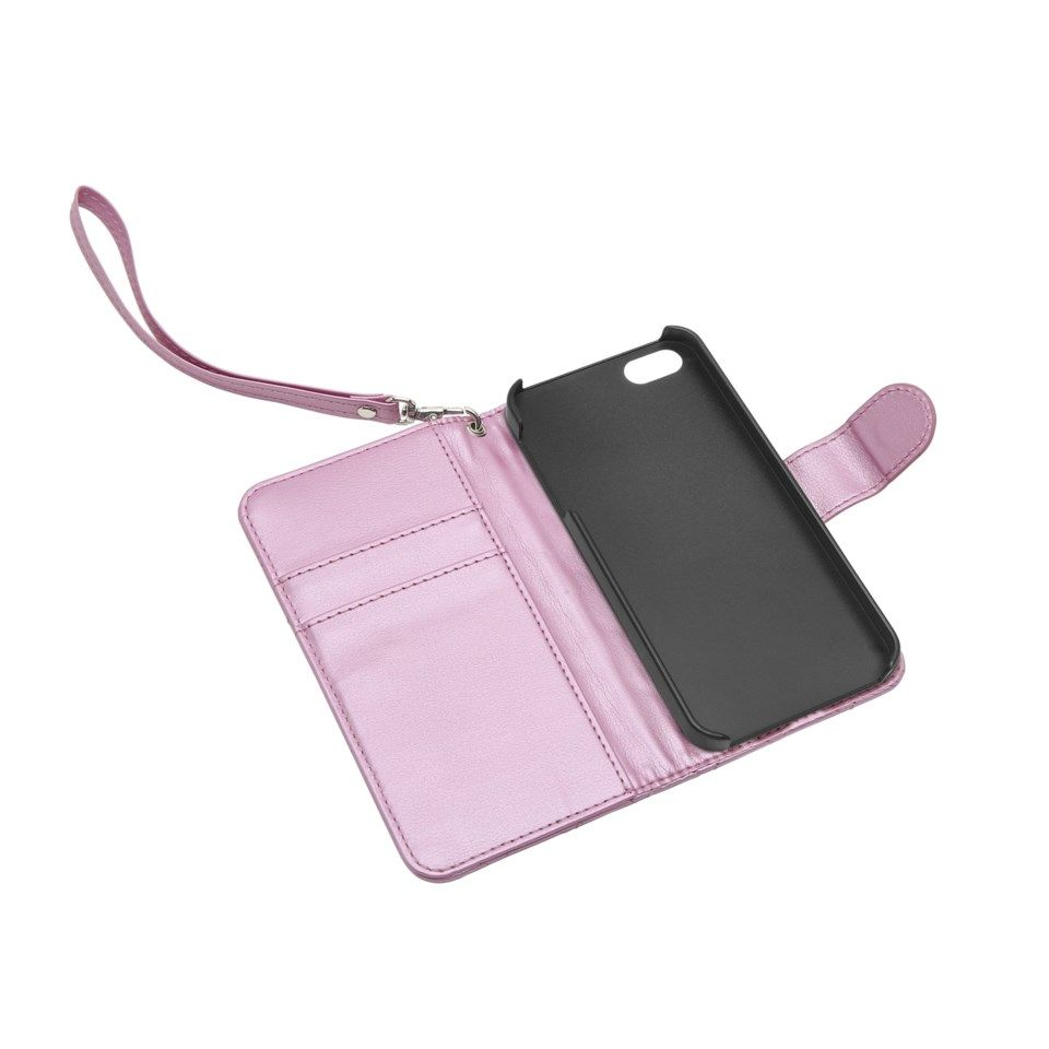Linocell Rutete mobiletui for iPhone 5, 5s och SE (2016) Rosa