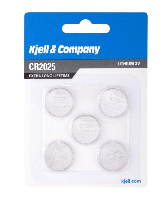 Kjell & Company Litiumbatteri CR2025 5-pack