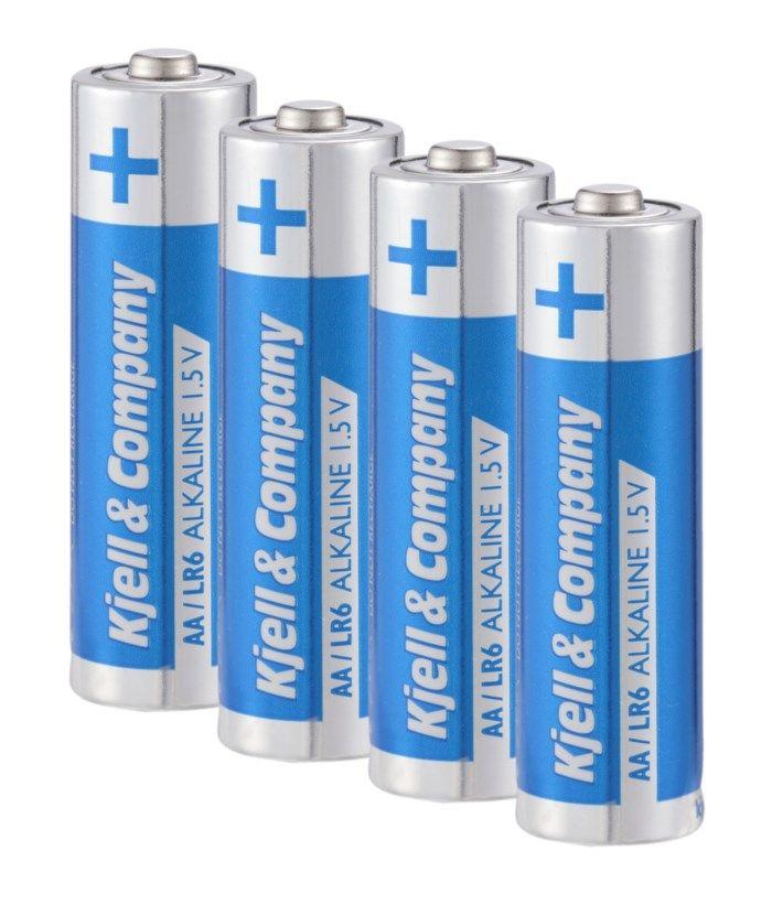 Kjell & Company AA-batterier (LR6) 4-pack