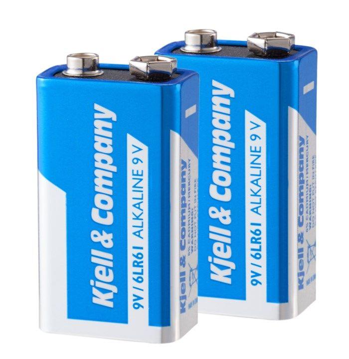 Kjell & Company 9 V-batterier (PP3) 2-pack