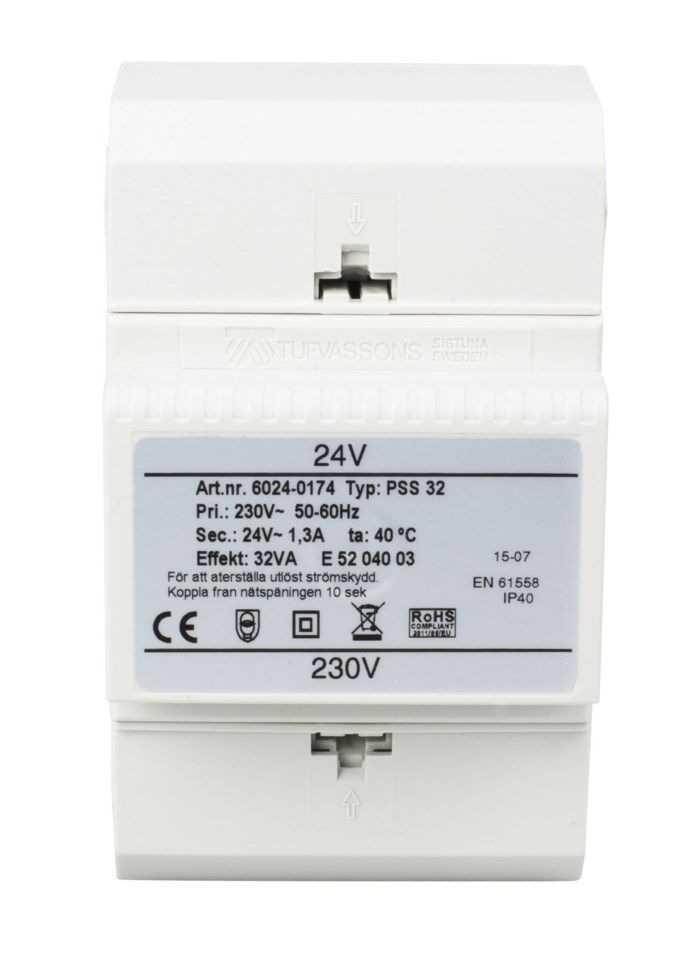Tufvassons Installationstransformator (AC) 24 V 32 W