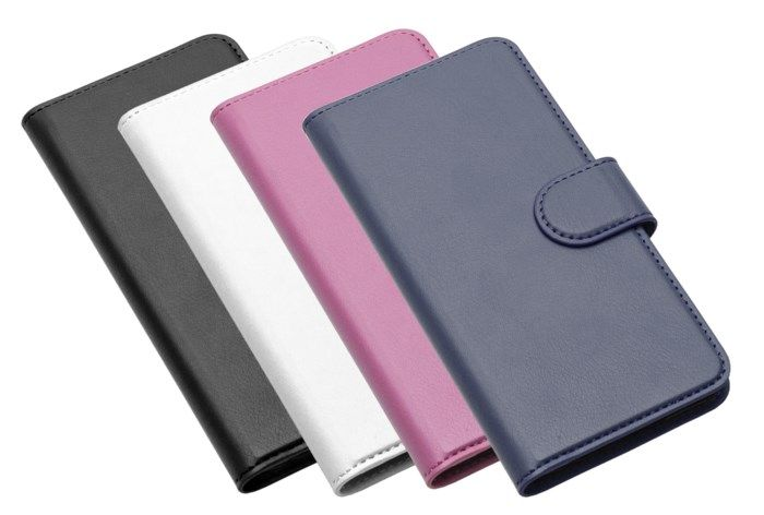 Linocell Tunn mobilplånbok för iPhone 7 8 och SE Rosa