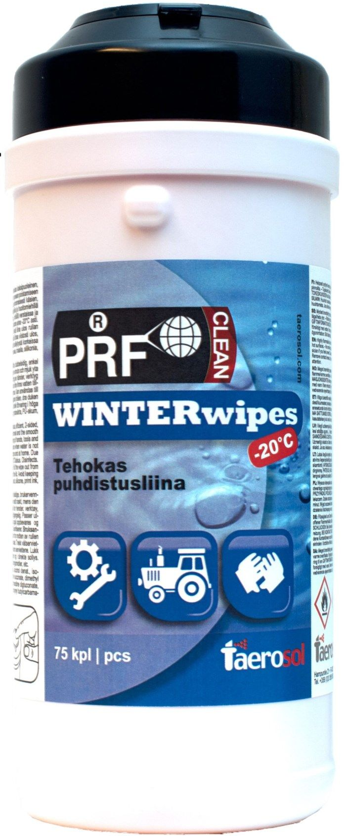 PRF Winter wipes -20 °C 75-pack