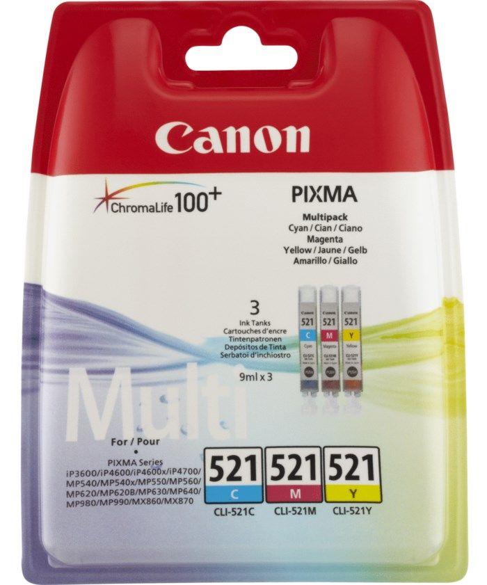 Canon CLI-521 Bläckpatroner 3-pack