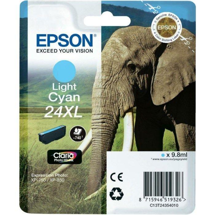 Epson T2432 Bläckpatron XL Ljus cyan