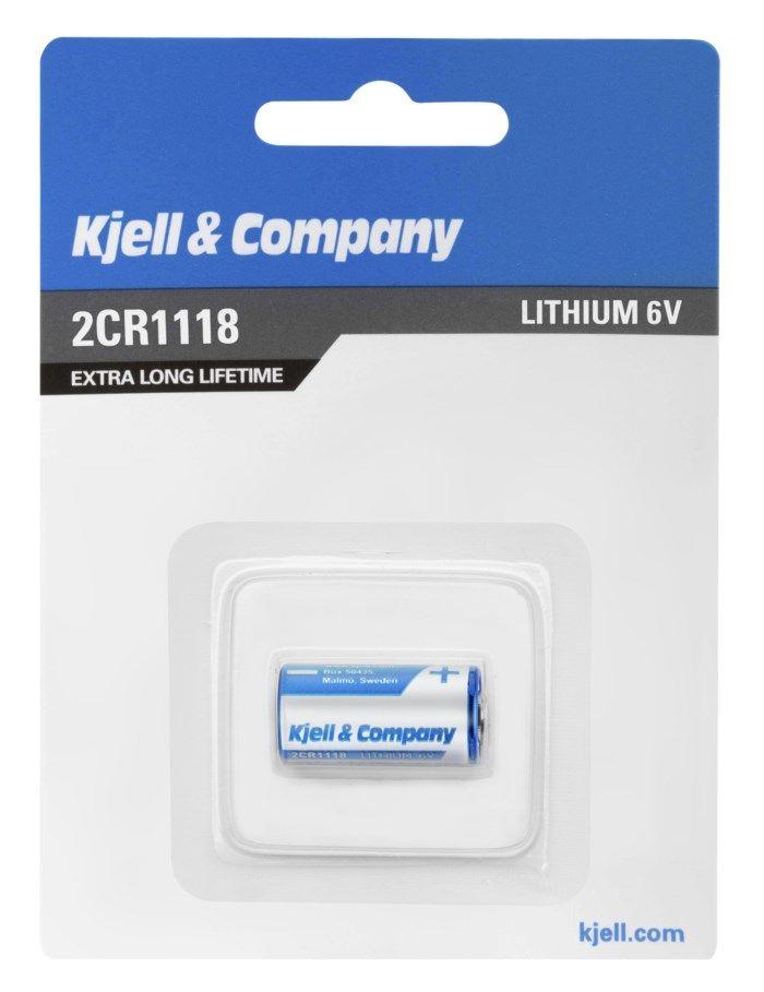 Kjell & Company Litiumbatteri 2CR1118 (4LR44)