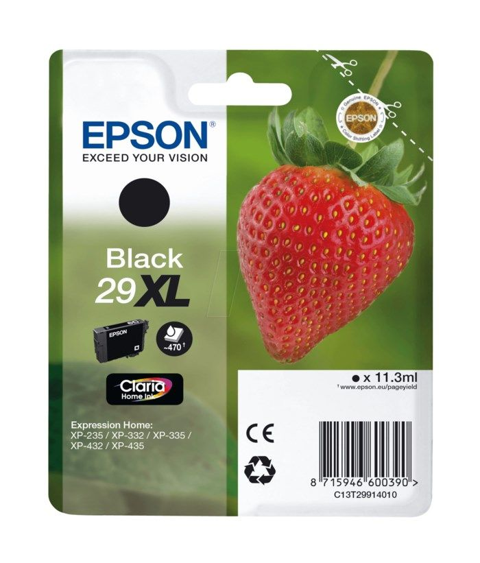 Epson T2991 XL Bläckpatron Svart