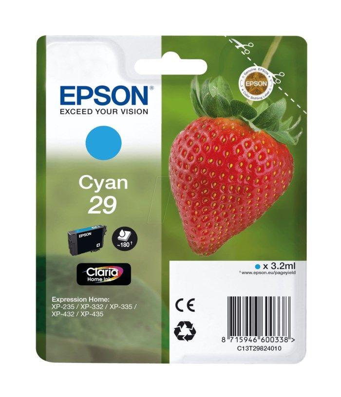 Epson T2982 Bläckpatron Cyan