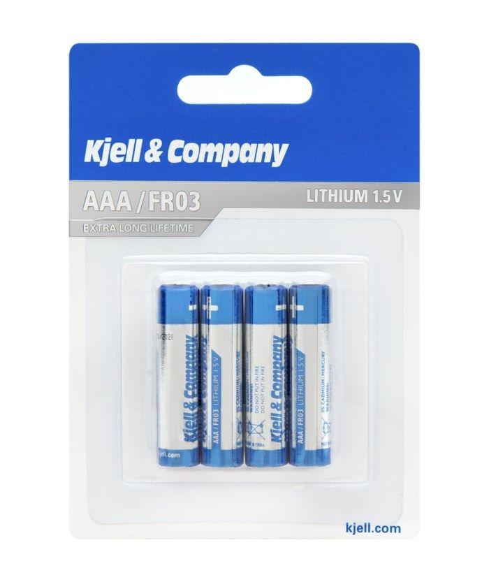 Kjell & Company AAA-litiumbatterier 4-pack