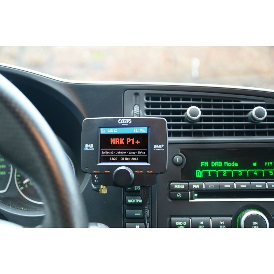 Tiny Audio C3+ Dab-mottaker for bilen