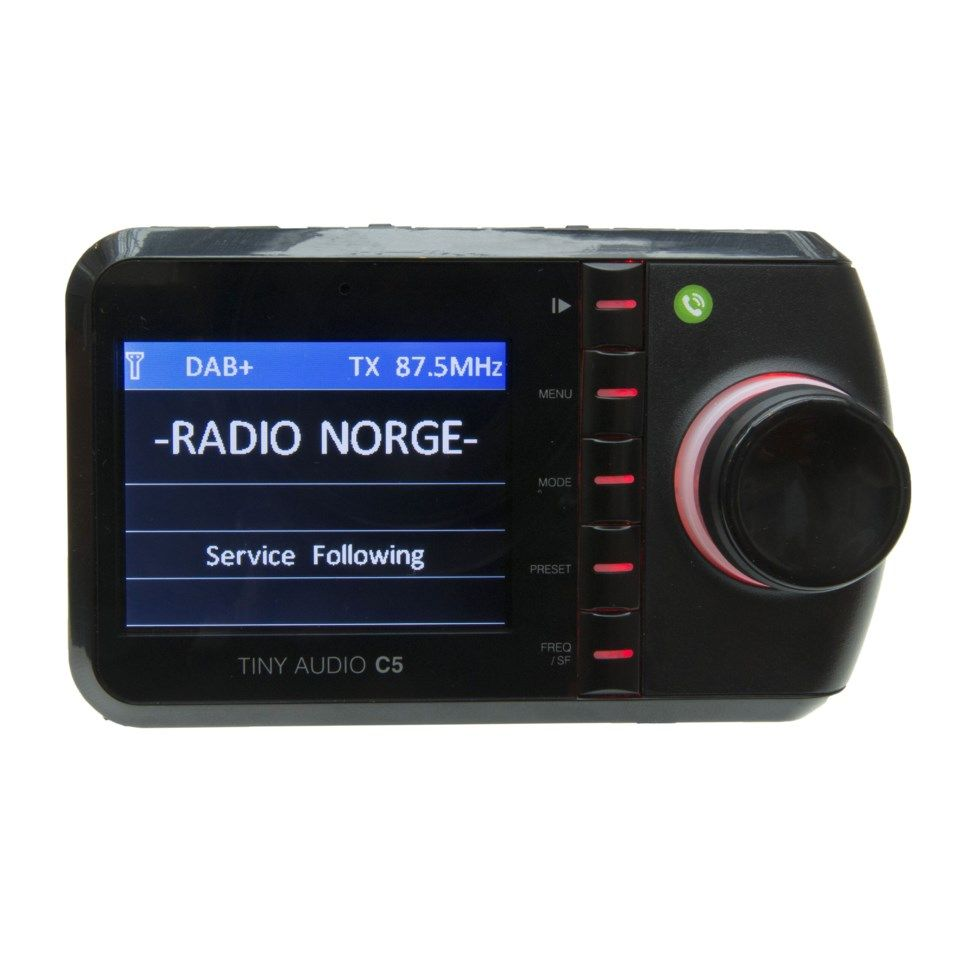 Tiny Audio C5 Dab-mottaker for bilen