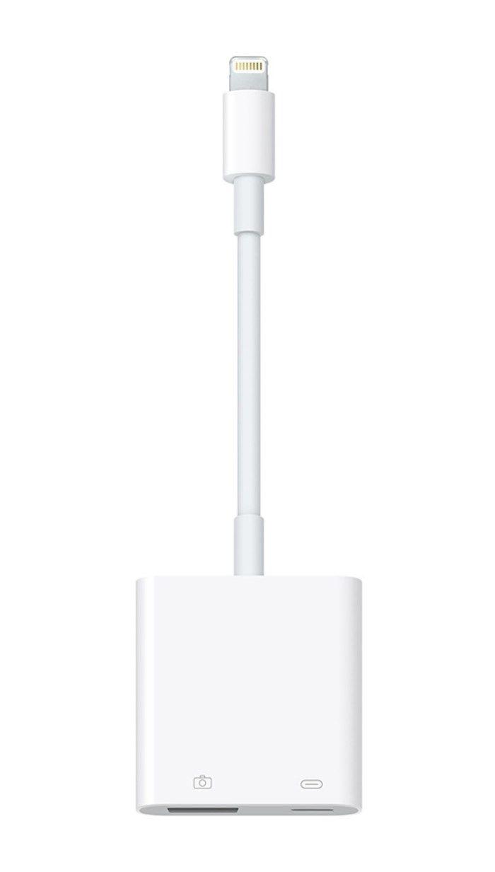 Adapter Lightning till USB med strömförsörjning