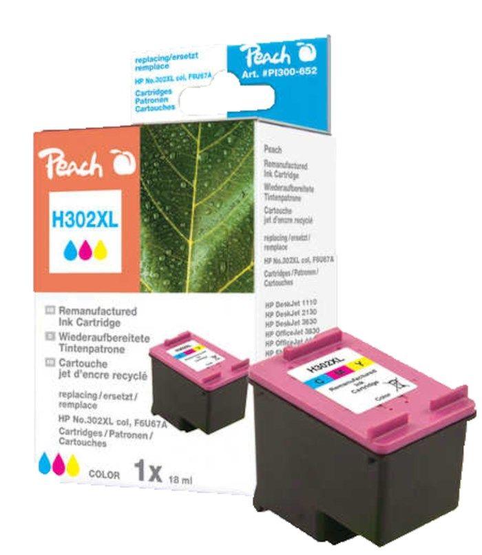 Peach HP 302XL Bläckpatron Flera färger